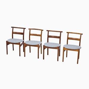 Esszimmerstühle von Tove & Edvard Kindt-Larsen für Seffle Möbelfabrik, 1950er, 4er Set