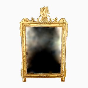 Antique Napoleon I Style French Gilded Wood Mirror, 1810s