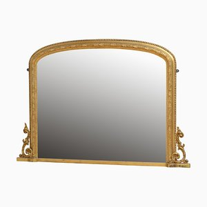 Large Antique Victorian Giltwood Mirror