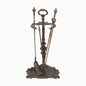 Antique Art Nouveau Fire Tools Stand