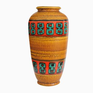 Vase au Sol Fat Lava Mid-Century de Scheurich, années 70