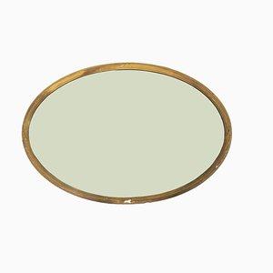 Großer Spiegel mit geschnitztem & vergoldetem Rahmen, 1920er