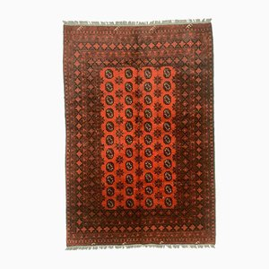 Vintage Afghan Red Rug, 1980s