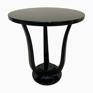Black Lacquer Three-legged Side Table