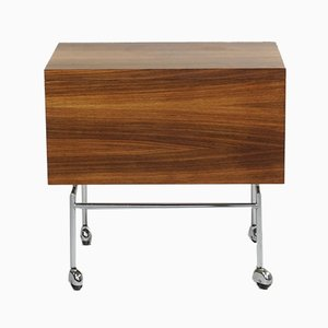 Mid-Century Rosewood Bar Cart by Poul Norreklit