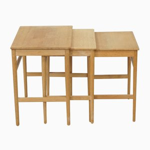Mid-Century Nesting Tables by Hans J. Wegner for Andreas Tuck