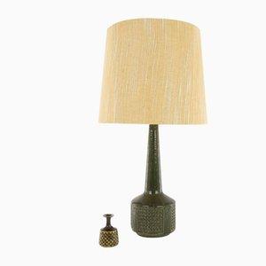 Modell DL / 35 Tischlampe in dunklem Olivgrün von Annelise & Per Linnemann-Schmidt für Palshus, 1960er