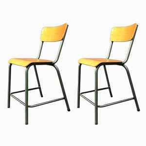 Vintage French Dining Chairs from Mullca, 1960s, Set of 2
