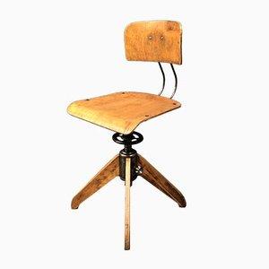 Chaise de Bureau Industrielle Vintage de Rowac, années 40