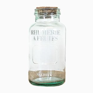 Antique Glass Rum Jar from Negrita