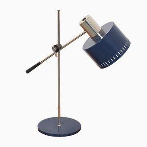 Lámpara de mesa holandesa de metal azul de Hala, años 60