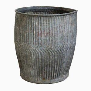 Maceta inglesa vintage de zinc, años 30