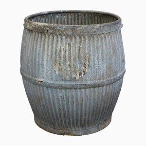 Cache-pot Vintage en Zinc, Angleterre, années 30