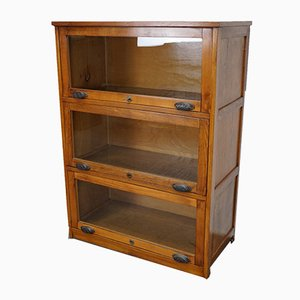 Vintage German Oak Bookcase