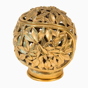 Gilt Bronze Night Light by Robert Goossens, 1970s