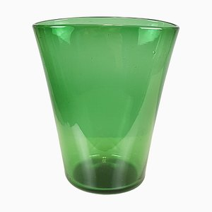 Grüne Vase von Taddei, 1950er