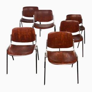 Chaises de Salle à Manger par Giancarlo Piretti pour Castelli/Anonima Castelli, 1960s, Set de 6