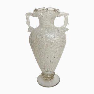 Amphora Vase aus Muranoglas, 1980er
