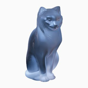 Cat Sculpture by René Lalique, 1950s