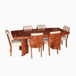 Art Déco Esstisch & Stühle Set, 1930er