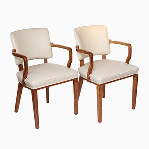 Art Deco Desk Chairs, 1930s, Set of 2