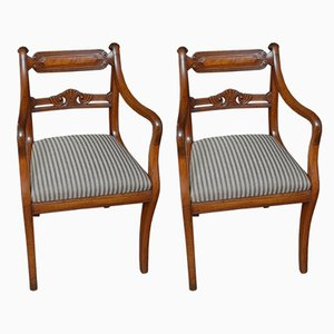 Antique Regency Mahogany Dining Chairs, Set of 2