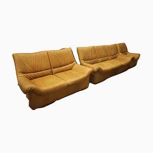 Vintage Leather Sofas, Set of 3