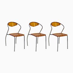Esszimmerstühle, 1980er, 3er Set