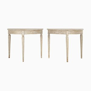 Antique Swedish Side Tables, Set of 2