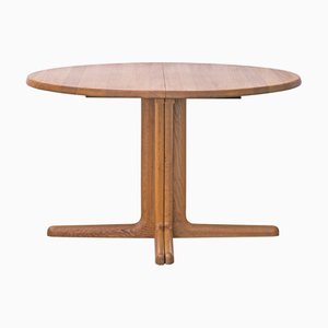 Extendable Circular Dining Table from Glostrup, 1970s