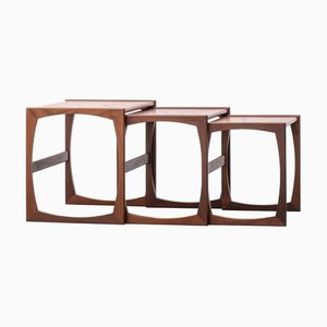 Mesas nido Mid-Century de teca de Robert Bennett para G