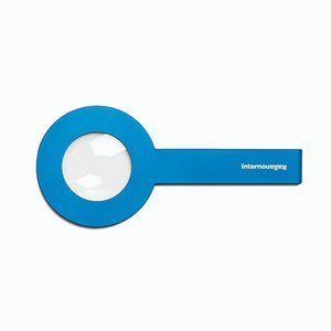 STRA Lens Magnifying Glass in Light Blue by Giulio Iacchetti for Internoitaliano
