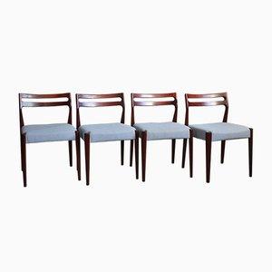 Esszimmerstühle aus Teak im skandinavischen Stil, 1970er, 4er Set
