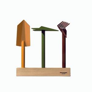 Juego de herramientas de jardinería Orte de Giulio Iacchetti para Internoitaliano