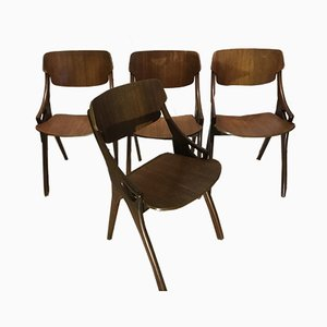 Mid-Century Dining Chairs by Arne Hovmand-Olsen for Mogens Kold, Set of 4