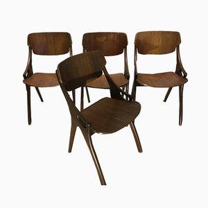 Mid-Century Esszimmerstühle von Arne Hovmand-Olsen für Mogens Kold, 4er Set