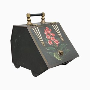 19th Century Metal Coal Box