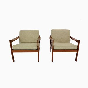 Danish Teak Lounge Chairs by Illum Wikkelsø for Niels Eilersen, 1960s, Set of 2