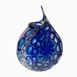 Murrine Blue Vase by d'Este's Zane