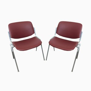 Model 106 DSC Desk Chairs by Giancarlo Piretti for Castelli / Anonima Castelli, 1960s, Set of 2
