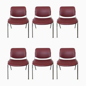 Chaises de Bureau Modèle 106 DSC par Giancarlo Piretti pour Castelli / Anonima Castelli, années 60, Set de 6