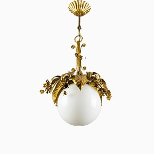 Lampada in metallo dorato, anni '70