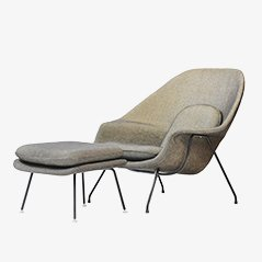Womb Chair and Ottoman by Eero Saarinen, 1960s