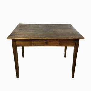 Antique Oak & Walnut Side Table