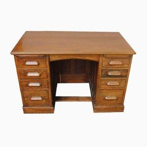Oak Pedestal Desk, 1930s