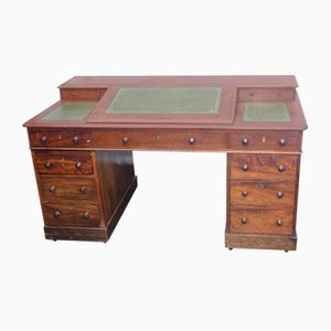 Antique Mahogany & Leather Dickens Desk