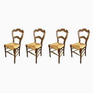 Chaises de Salle à Manger d'Époque en Noyer, Set de 4