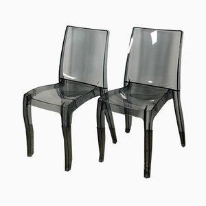 Beistellstühle aus Plexiglas, 1980er, 2er Set