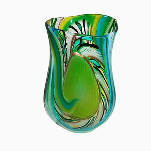 Small Green Murrine Vase by d'Este's Zane