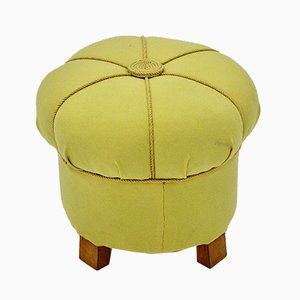 Art Deco Austrian Yellow Stool, 1930s